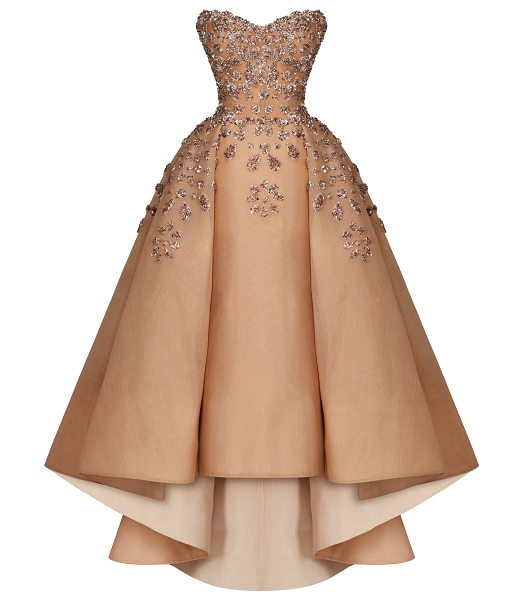 Maison Yeya Marie Strapless Sequin Gown in pink - This *Maison Yeya* gown features a sweetheart neckline a...