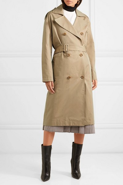 Maje belted cotton-canvas trench coat in beige
