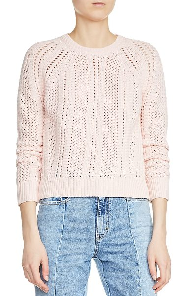 Maje Margarita Open Knit Sweater in nude - Maje Margarita Open Knit Sweater-Women