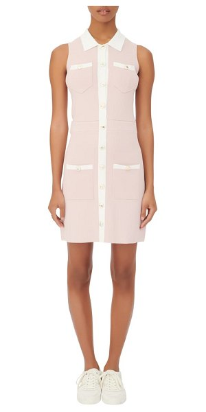 Maje sleeveless button-up dress in pink