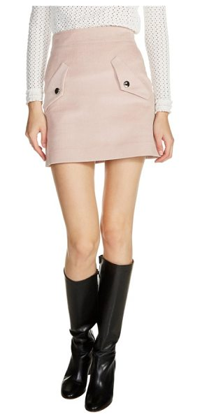 Maje two-pocket a-line miniskirt in pink - Tailored from fall-classic corduroy-updated in a...