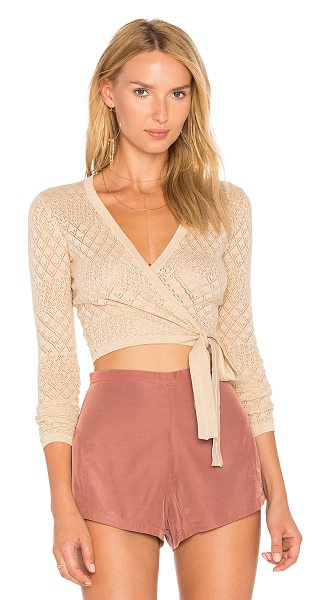 MAJORELLE Adriana Top in nude - A knit made for summertime days: Majorelle's Adriana...