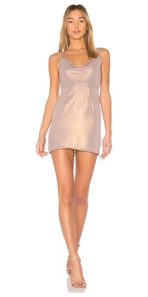 MAJORELLE Ballet Dress in metallic neutral - Self & Lining: 100% poly. Dry clean only. Fully lined....