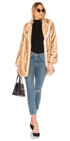 MAJORELLE Brinley Faux Fur Coat in tan - Faux Fur: 100% polyLining: 95% poly 5% spandex. Dry...