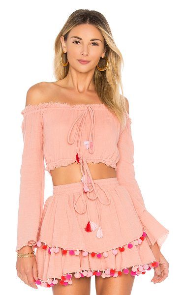 MAJORELLE Calypso Top in blush - Self: 100% cottonLining: 100% rayon. Hand wash cold....