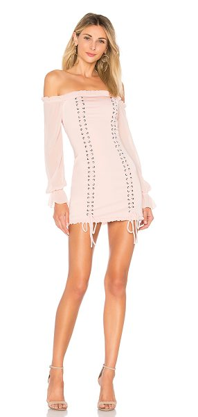 MAJORELLE Collette Dress in pink - Self: 96% poly 4% elastaneLining: 97% poly 3%...