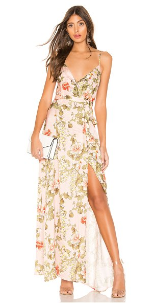 MAJORELLE cubano maxi dress in pink bellbird