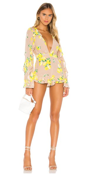 MAJORELLE devon romper in tan lemon