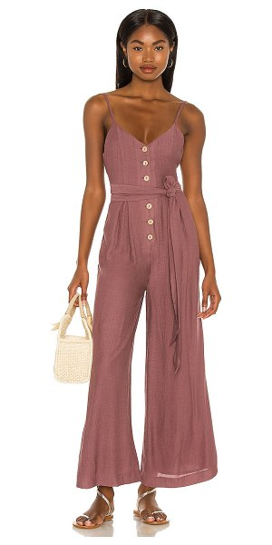 MAJORELLE fayette jumpsuit in cocoa brown