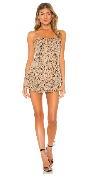 MAJORELLE florida dress in natural leopard