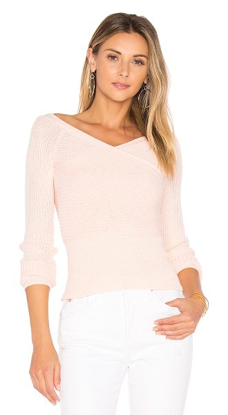 MAJORELLE Palma Sweater Top in pink - Inject your knits with sex appeal a la Majorelle's Palma...