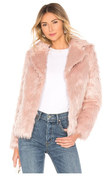 MAJORELLE Rosabelle Coat in pink - Faux Fur Face: 85% acrylic 15% polyBack: 100%...