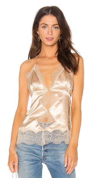 MAJORELLE x REVOLVE Beau Cami in beige - 100% poly. Hand wash cold. Adjustable T-strap back....
