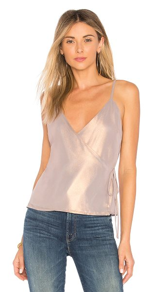 MAJORELLE Polina Tank in pink - Self & Lining: 100% poly. Dry clean only. Wrap design...