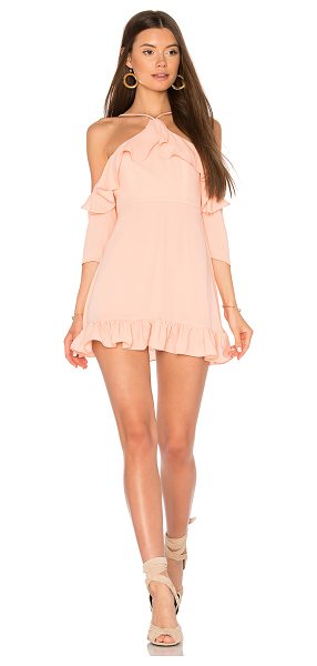 MAJORELLE x REVOLVE Valley Dress in coral - Of-the-moment bare shoulders with an extra element of...