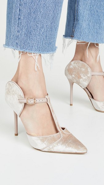 MALONE SOULIERS 100mm imogen pumps in nude/nude