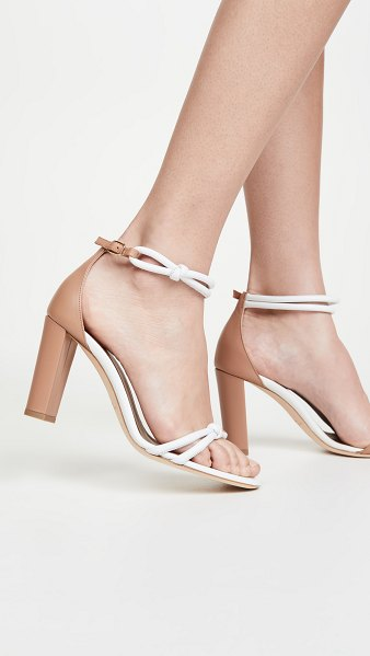 MALONE SOULIERS 85mm fenn sandals in white/nude