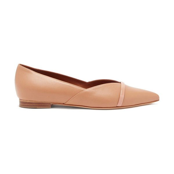MALONE SOULIERS colette point-toe nappa-leather flats in nude