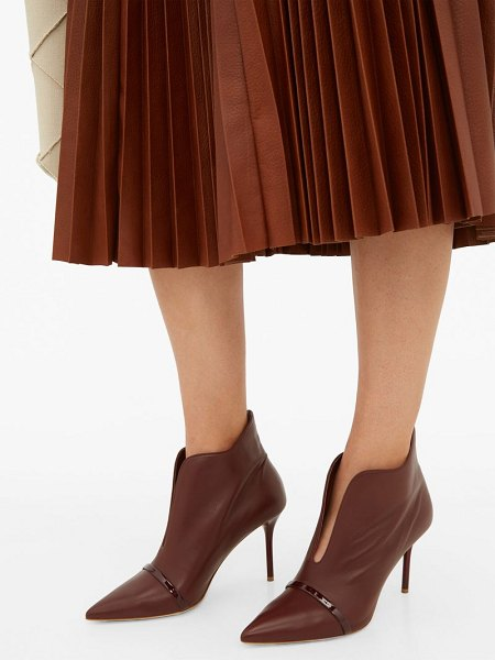 MALONE SOULIERS cora leather ankle boots in dark brown