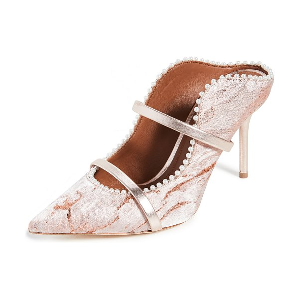 MALONE SOULIERS maureen 85mm pumps in rosegold