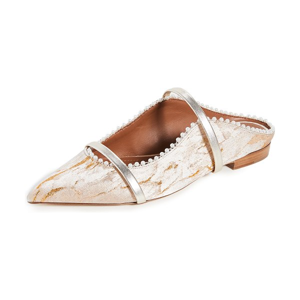 MALONE SOULIERS maureen flats in gold