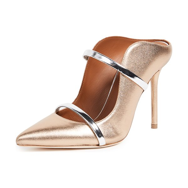 MALONE SOULIERS maureen mule pumps in gold/silver - Glamorous, metallic Malone Souliers mules with a...