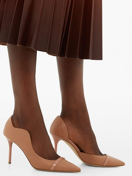 MALONE SOULIERS morrisey waved-edge leather pumps in nude