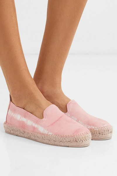 MANEBI tie-dyed leather espadrilles in baby pink