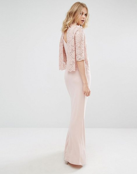 "MANGO High Neck Lace Top Maxi Dress - """"Maxi dress by Mango, Unlined slinky fabric, High..."