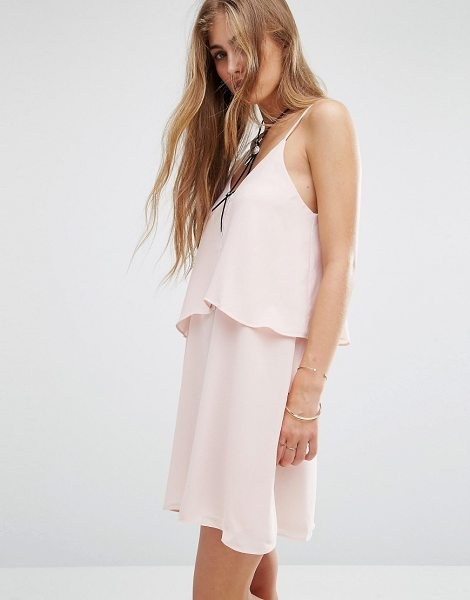 """MANGO Ruffle Double Layer Dress in pink - """"""""Dress by Mango, Textured lined woven fabric,..."""