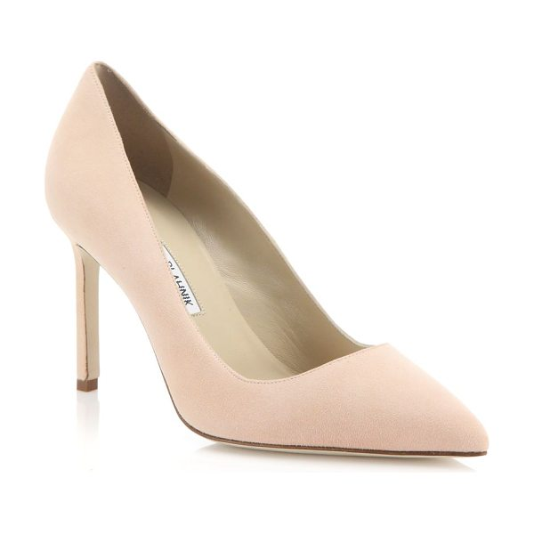 Manolo Blahnik Bb 90 suede point-toe pumps in blush - A timeless silhouette handcrafted in rich, Italian suede...