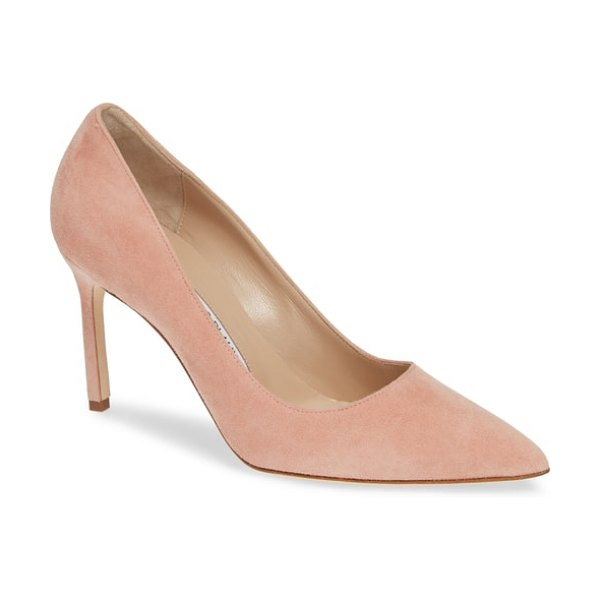 Manolo Blahnik bb pointy toe pump in pink - Simply gorgeous: An iconic pointy-toe pump in plush...