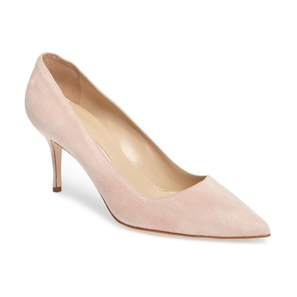 Manolo Blahnik bb pump in blush suede - Simply gorgeous: A classic pointy-toe pump in lush suede...
