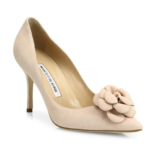MANOLO BLAHNIK camelia suede pumps - EXCLUSIVELY AT SAKS FIFTH AVENUE. Suede point-toe pump...