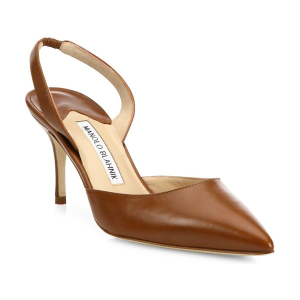 MANOLO BLAHNIK carolyne leather slingbacks - A timeless silhouette crafted from supple Italian...