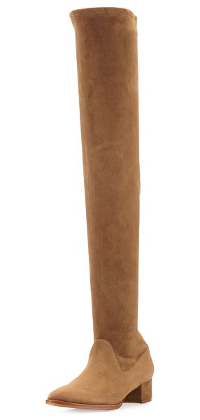 "MANOLO BLAHNIK Pascalare 30mm Over-The-Knee Boot - Manolo Blahnik stretch-suede over-the-knee boot. 1.5""..."