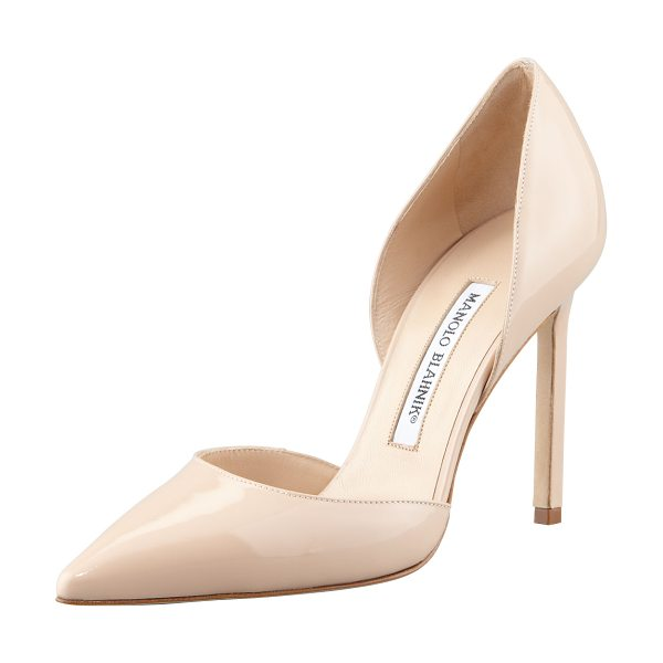 MANOLO BLAHNIK Tayler patent pointed dorsay - Patent leather d'Orsay pump by Manolo Blahnik. Pointed...