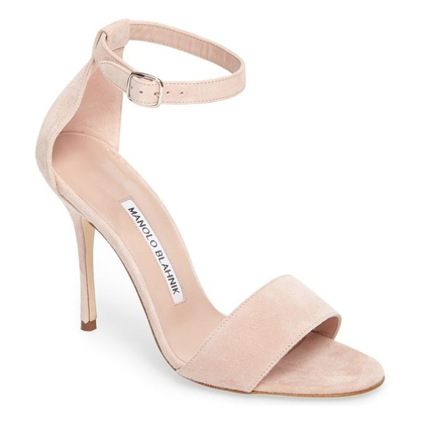 MANOLO BLAHNIK tres ankle strap sandal - Streamlined and chic, this curvy ankle-strap sandal is...