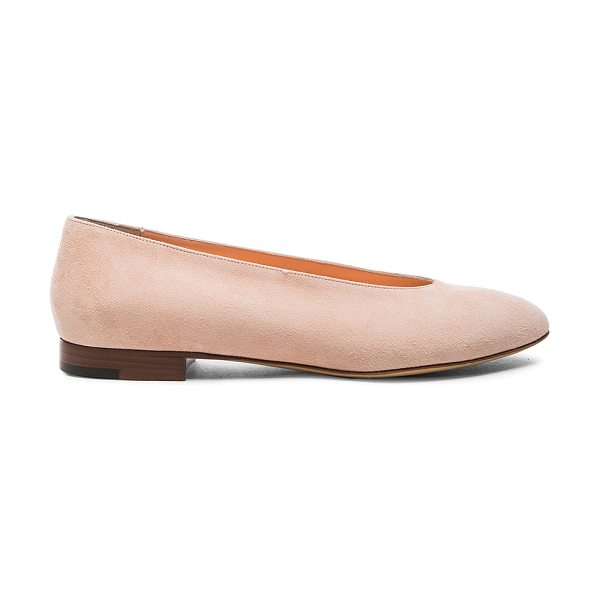 Mansur Gavriel Ballerina in pink - Suede upper with leather sole.  Made in Italy.  Approx...