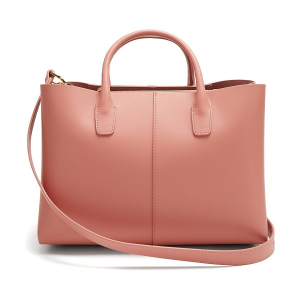 Mansur Gavriel Folded Pink Lined Leather Bag in light pink - Mansur Gavriel - Mansur Gavriel's blush-pink...