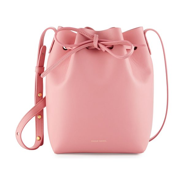 Mansur Gavriel Calf Leather Mini Bucket Bag in rose