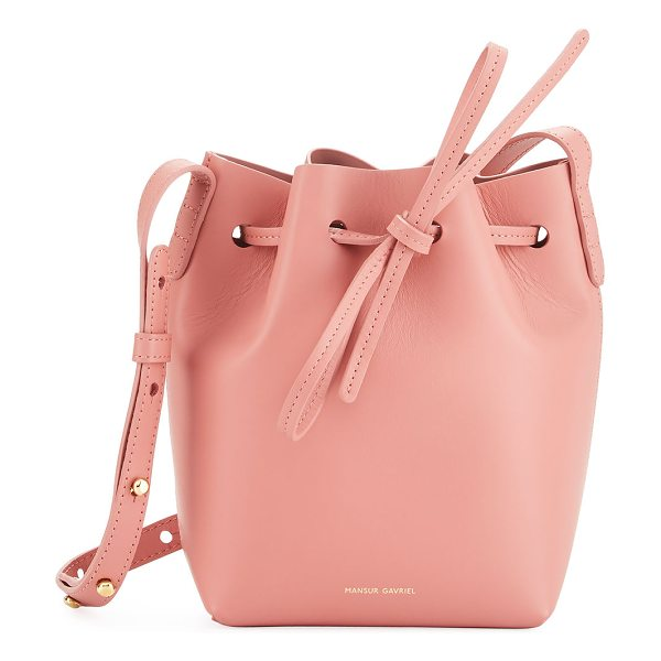 MANSUR GAVRIEL Calf Leather Mini Mini Bucket Bag - Mansur Gavriel Italian calf leather bucket bag....