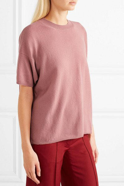 Mansur Gavriel cashmere sweater in blush - Mansur Gavriel's Fall '18 runway was awash with pretty...