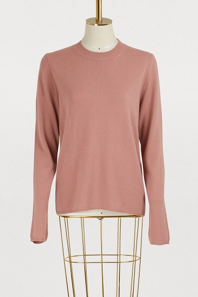 Mansur Gavriel Cashmere sweater in blush - Adopt the elegant simplicity of this cashmere sweater...