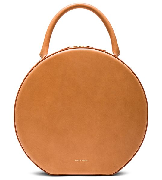 "MANSUR GAVRIEL Circle Bag in nude - ""Vegetable tanned leather with canvas lining and..."