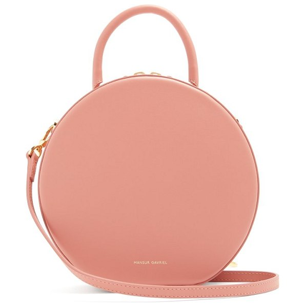 Mansur Gavriel circle leather cross body bag in light pink - Mansur Gavriel - Clean lines and refined, sculpted...