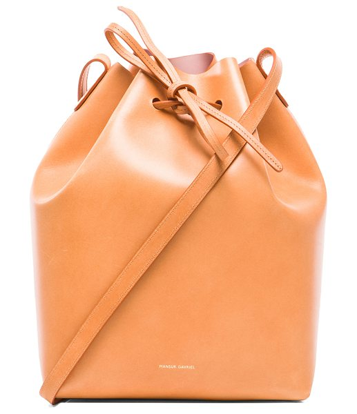 Mansur Gavriel Coated large bucket bag in neutrals