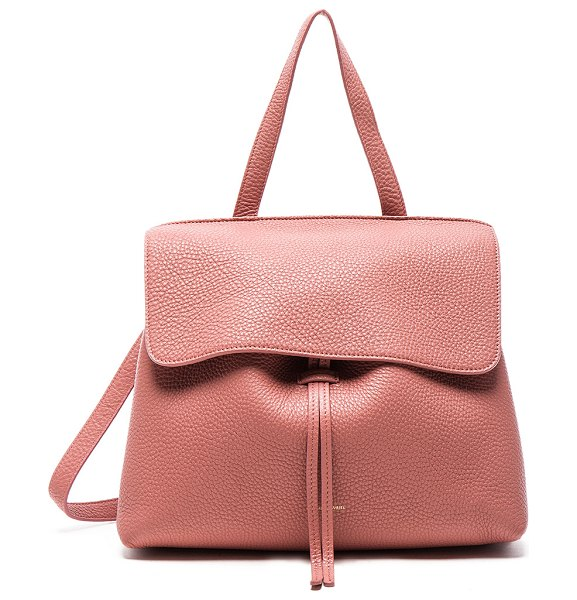 "Mansur Gavriel Lady Bag in pink - ""Tumbled grained leather with canvas lining and..."