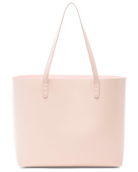 """MANSUR GAVRIEL Large Tote in pink - """"Vegetable tanned leather with pink matte patent leather..."""
