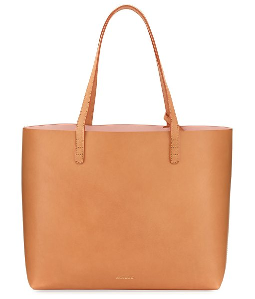 MANSUR GAVRIEL Large Vegetable-Tanned Leather Tote Bag in rose - Mansur Gavriel vegetable-tanned leather tote bag....